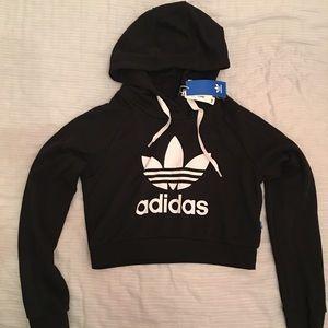 NWT Adidas Crop Hoodie